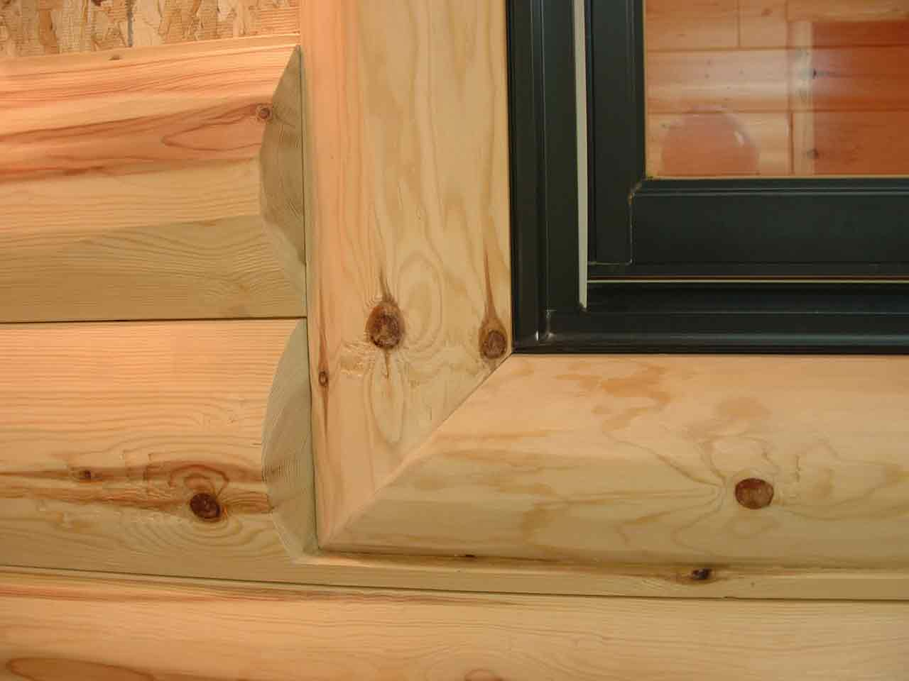 Log D Trim Custom Window And Door Trim Skyline Woods